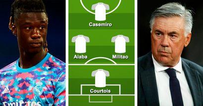 ¿Con Camavinga? Elige tu XI favorito del Real Madrid para el choque ante el Valencia entre 3 opciones