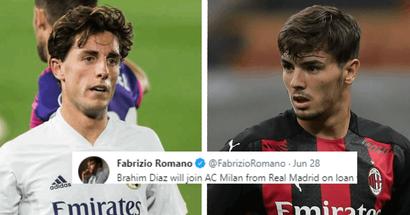 Fabrizio Romano revela detalles del acuerdo entre Milan y Real Madrid por Brahim Díaz (fiabilidad: 5 estrellas)