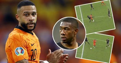 Depay outplays Madrid newbie Alaba to record perfect pre-assist vs Austria