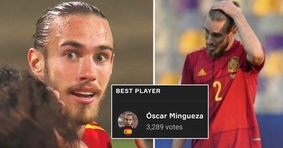 Mingueza makes senior Spain debut, voted as Man of the Match