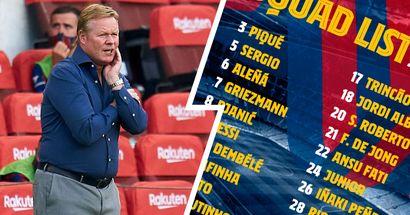كومان يعلن قائمة برشلونة لمواجهة فياريال في بطولة الدوري الإسباني