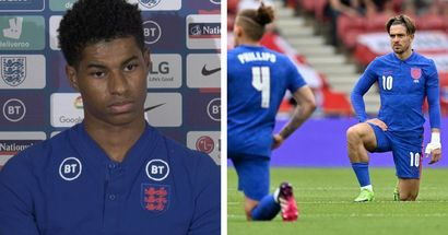 England fans boo players for taking the knee before Romania clash - Rashford provides perfect response