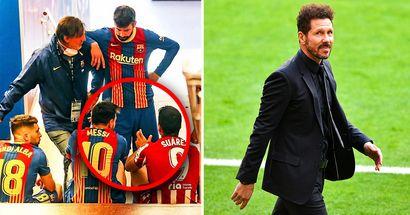 Diego Simeone revela una conversación secreta entre Lionel Messi y Luis Suárez