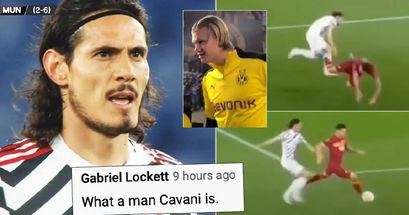 CLASSE: il bel gesto di Cavani contro l'AS Roma diventa virale - i tifosi citano subito Haaland