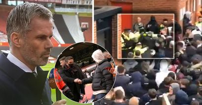 'You scouse ba*****s': Video footage shows Man United hurling abuses while they attack police during protest