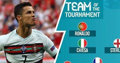 Cristiano Ronaldo fait partie de l'équipe du tournoi de l'Euro 2020