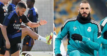 Benzema misses Real Madrid group training ahead of El Clasico, Hazard returns