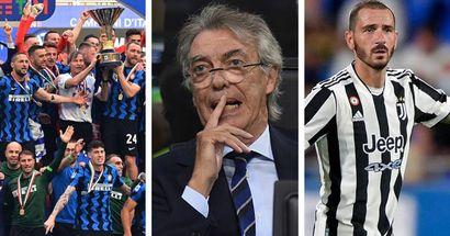 """Moratti risponde a Bonucci: """"Non hanno vinto lo Scudetto per demeriti loro? L'Inter era nettamente più forte"""""""