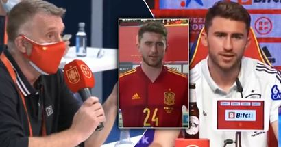 'Do you feel Spanish enough to defend the flag?': Reporter surprises Aymeric Laporte with nationality question