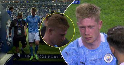 De Bruyne verlässt den Platz im Champions-League-Finale unter Tränen nach einem Zweikampf von Rüdiger in Ramos-Manier