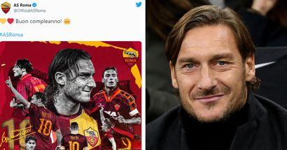 """""""Buon compleanno, Francè!"""": gli auguri della Roma all'unico e inimitabile Francesco Totti per i suoi 45 anni"""