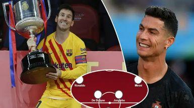 Conexión Messi-Ronaldo y más: el XI si los aspirantes al Balón de Oro de 2021 fueran un equipo