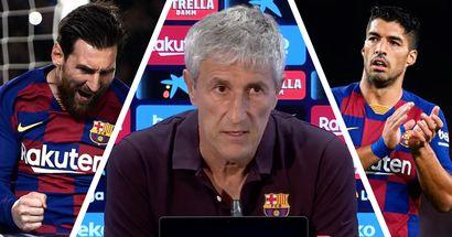 سيتيين يؤكد جاهزية ميسي وسواريز للمشاركة في مباراة مايوركا بالدوري الإسباني