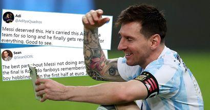 """""""Il obtient enfin ce qu'il mérite"""": les fans rivaux réagissent à la victoire de Messi en Copa America"""
