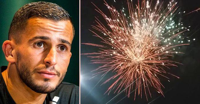 هرع نجم غلطة سراي إلى المستشفى مصابا بحروق في وجهه بعد انفجار الألعاب النارية في يده