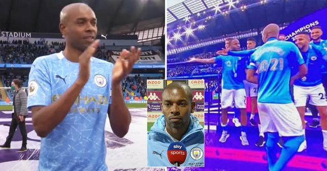 """""""Geste de classe incroyable"""". Fernandinho a rompu le protocole de la Premier League pour célébrer avec un fan"""