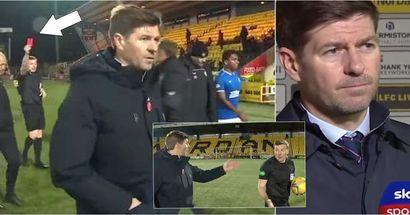 Le telecamere catturano Steven Gerrard completamente impazzito contro l'arbitro, le sue parole raccolte dai microfoni