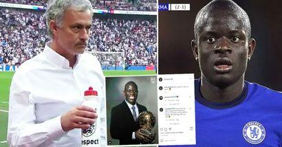 BRILLANTE: José Mourinho deja un comentario en la publicación viral de Instagram sobre N'Golo Kante