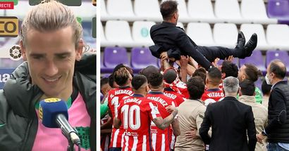 Griezmann congratulates Atletico on the title, says he's 'happy' for them