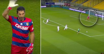 Superman returns. 43-year-old Gianluigi Buffon pulls off a miracle save for Parma