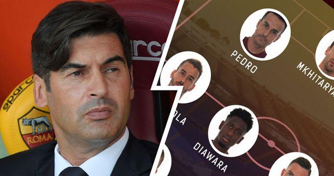 Ufficiale | La formazione scelta da Fonseca per la sfida con il Verona: Dzeko in panchina, Pedro in campo con Mkhitaryan prima punta