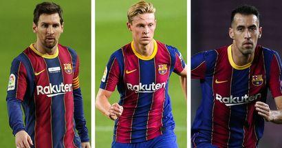 Midfield maestros De Jong and Busquets record most La Liga passes, Messi makes top 6