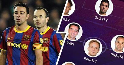 Xavi-Iniesta se reencuentran: como formaría el XI ideal de las últimas salidas del Barça