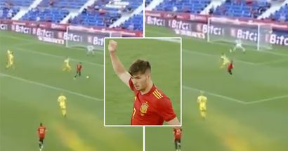 Brahim Diaz makes Spain debut, produces brilliant finish (video)