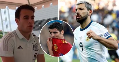 'That wouldn't be bad!': Eric Garcia would love to have Aguero at Spain amid Morata's woeful form