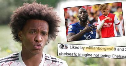 Willian 'likes' Chelsea Instagram post celebrating win over Arsenal