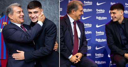 8 best pics from Pedri's contract extension press conference