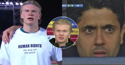 Erling Haaland joins Norway protest against Qatar – don't show this to PSG