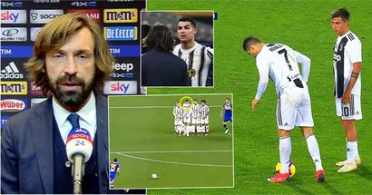 Andrea Pirlo sends a warning to Cristiano Ronaldo after his dangerous behaviour during free-kick