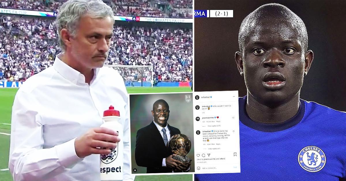 BRILLANT: Jose Mourinho hinterlässt einen Kommentar unter einem viralen Instagram-Post über N'Golo Kante