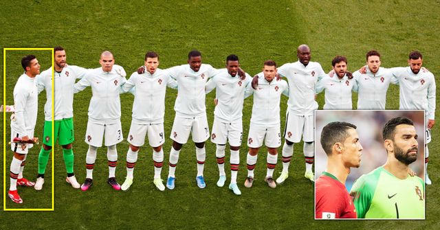 EXPLAINED: Why Cristiano Ronaldo always stands sideways for Portugal anthem
