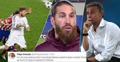 """Les supporters madrilènes blâment Enrique de ne pas avoir appelé Ramos qui ''aurait pu être décisif"""" après le match nul de l'Espagne contre la Suède"""