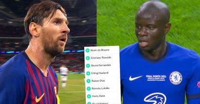 Cotes du Ballon d'Or 2021 : Mbappé et Kanté devant Lionel Messi
