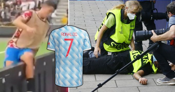 Cristiano Ronaldo checks on female security guard he knocked out, her reaction spotted