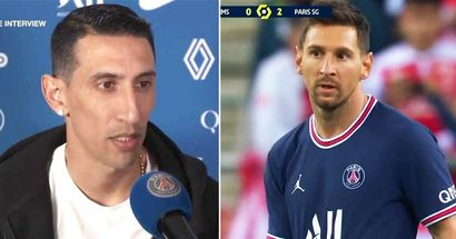 """Di Maria: """"Ich nenne Leo Messi einen Zwerg. In der Presse sage ich, er ist ein Außerirdischer, aber für uns ist er Leo, der Zwerg"""""""