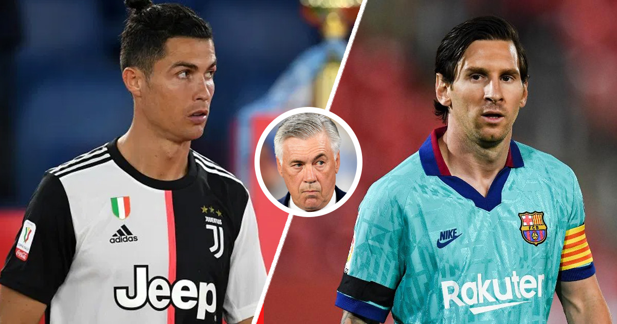Carlo Ancelotti: 'I'd have liked to train Messi to be able to compare him  with Ronaldo'