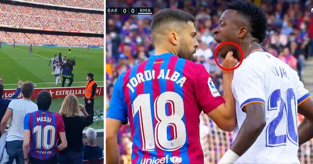 Von Kamera erwischt: Was passierte zwischen Vinicius Jr. und Jordi Alba beim El Clasico?