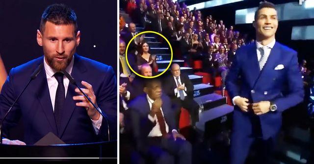 Los fanáticos notan una gran diferencia entre Leo Messi y CR7 cuando reciben premios