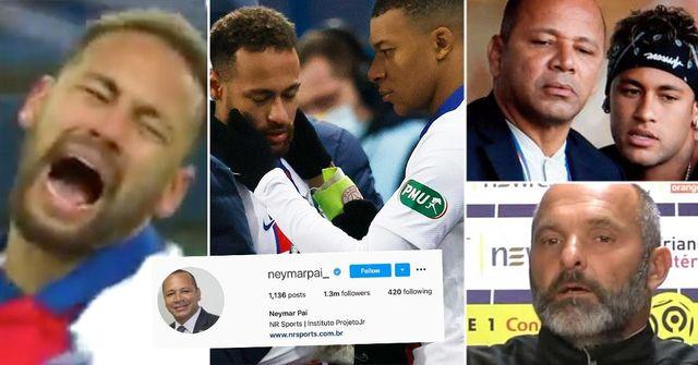 El papá de Neymar devuelve el golpe al técnico del Caen: 'Mi hijo llora porque hay gente como tú en el fútbol'