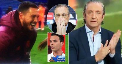 """""""Il ne peut pas rester ici"""". Les Espagnols réagissent aux images d'Eden Hazard en train de rire avec des joueurs de Chelsea"""