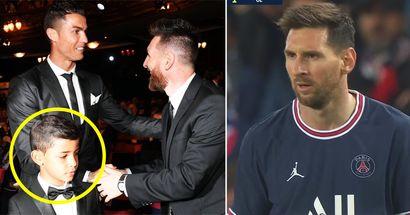 Desvelan la reacción de Cristiano Jr cuando conoció a Messi por primera vez