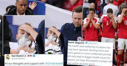 Real Madrid, Ozil, Vazquez et plus: le monde du football montre leur soutien à Eriksen
