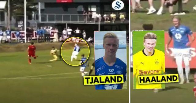 Albert Braut Tjaaland marque lors de ses débuts en seniors avec Molde comme son cousin Erling Haaland