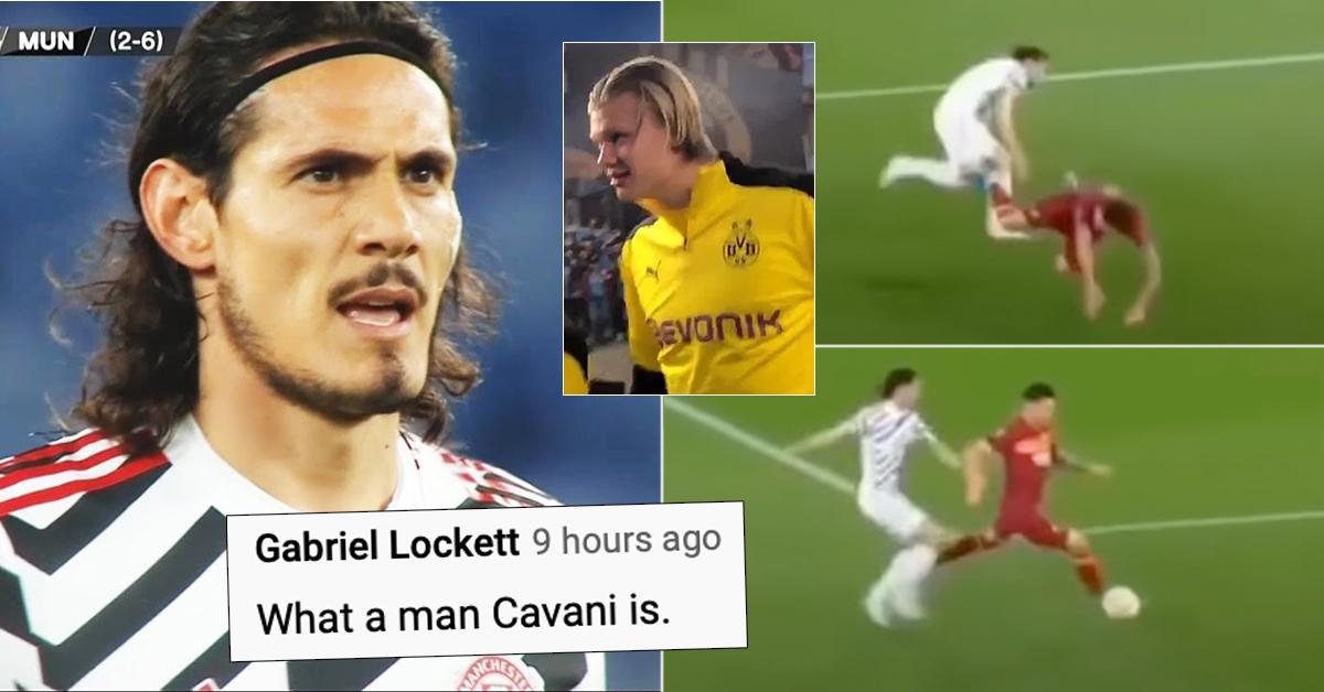 LA CLASSE: Le geste incroyable de Cavani contre l'AS Roma devient viral - Ce que les fans anglais disent des ex-stars du PSG Thiago Silva et Cavani
