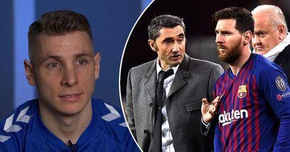 """Lucas Digne affirme que Valverde """"a eu du mal à parler à Messi"""" alors qu'il le compare à Luis Enrique"""