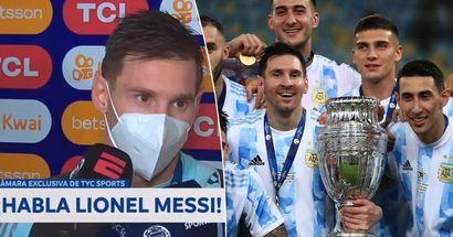 """""""Davon habe ich geträumt"""": Messi reagiert auf den Copa-America-Sieg"""